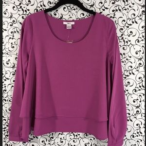Bar III purple layered blouse
